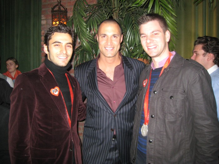 Jason and I with Nigel Barker Photographer and Judge on America's Next Top Model