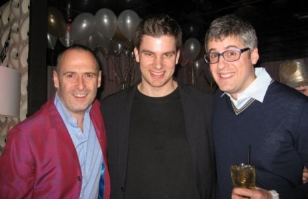 Steve (one of Elmo's Owners) with Mo Rocca and me