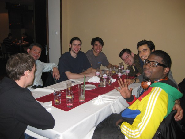 The USA Contingent at Dinner