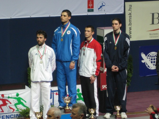 Ben Igoe on the podium in Budapest