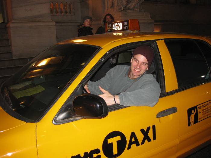 "My first movie playing Cab Driver #1.  Please Note: ""I don't go to Queens and you better pay me with cash!"""