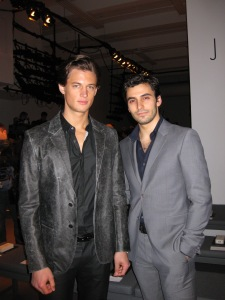 Jason Rogers attends Fashion Week in NYC with CK model Garret Neff