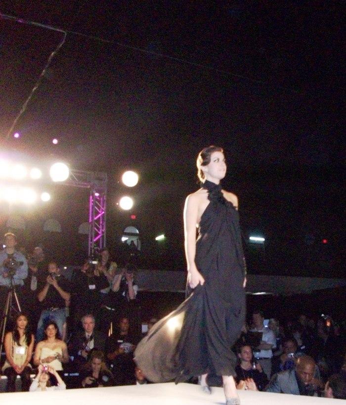Leigh-Taylor walks the runway