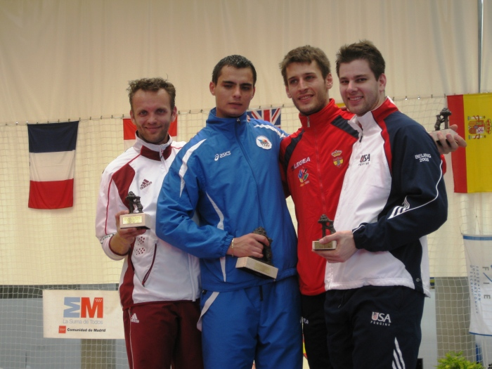 Dumetrescu of Romania Gold, Nemscik of Hungary Silver.