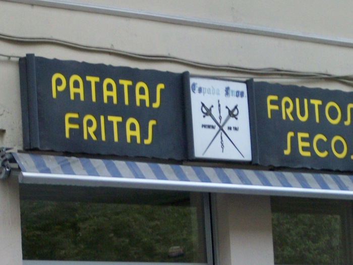 Nothing says fencing and swords like Dry Fruit and French Fries!