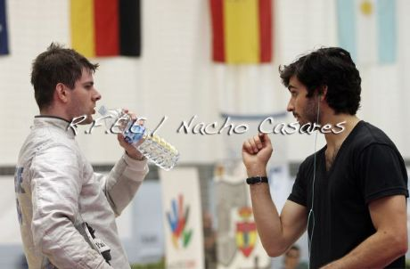 Jason Rogers coaching me during the finals