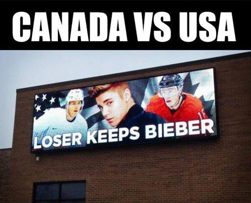 Justin Beiber Hockey